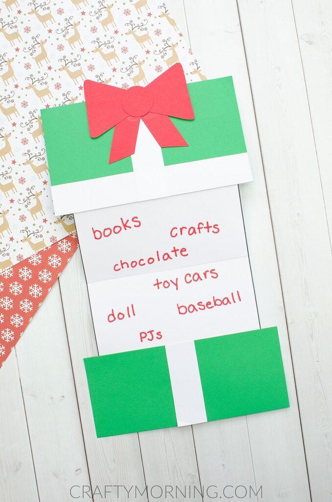 Foldable Christmas Present Wish List Craft Crafty Morning