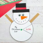 Snowman Christmas Wish List Spinner