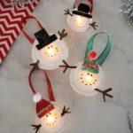 Melted Snowman Tea Light Ornaments