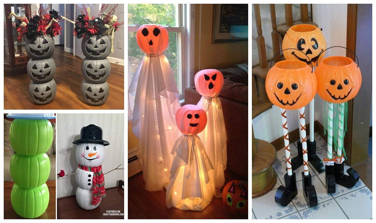 Dollar Plastic Pumpkin Bucket Craft Ideas