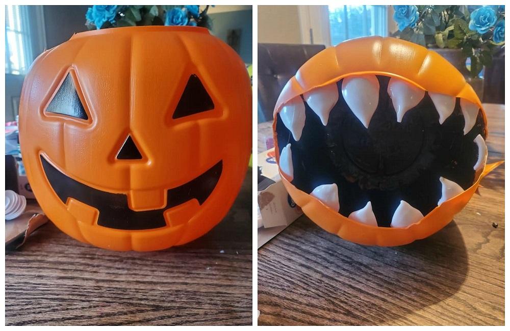 Plastic Pumpkin Monster