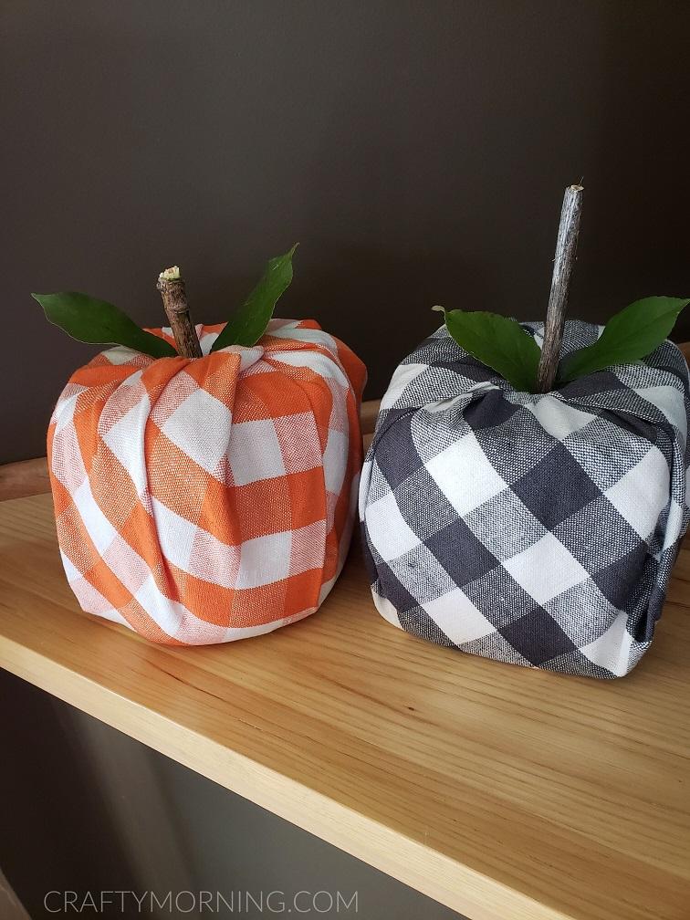 Toilet Paper Roll Fabric Pumpkins