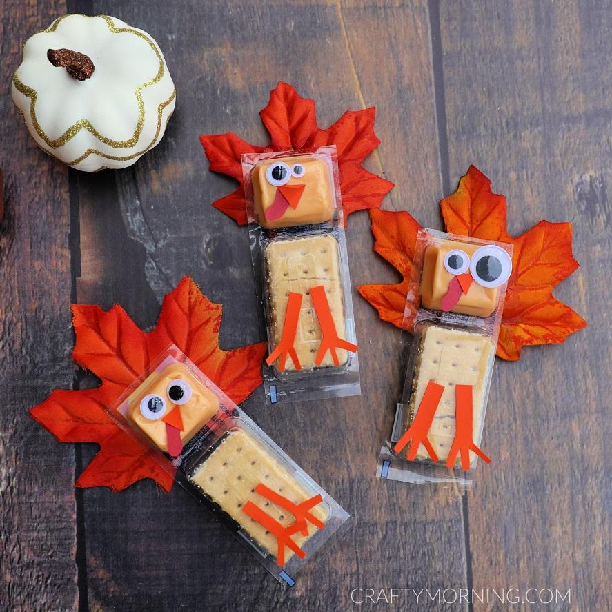 Turkey Cracker Snacks for Kids