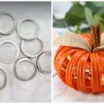 Mason Jar Lid Lighted Pumpkins