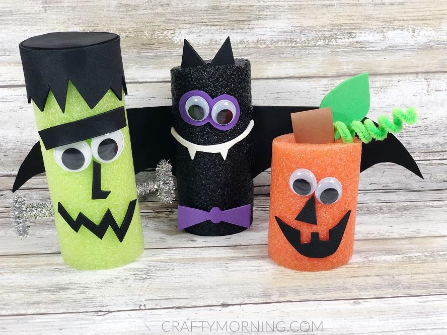 Pool Noodle Halloween Creatures