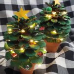 Potted Pinecone Christmas Trees