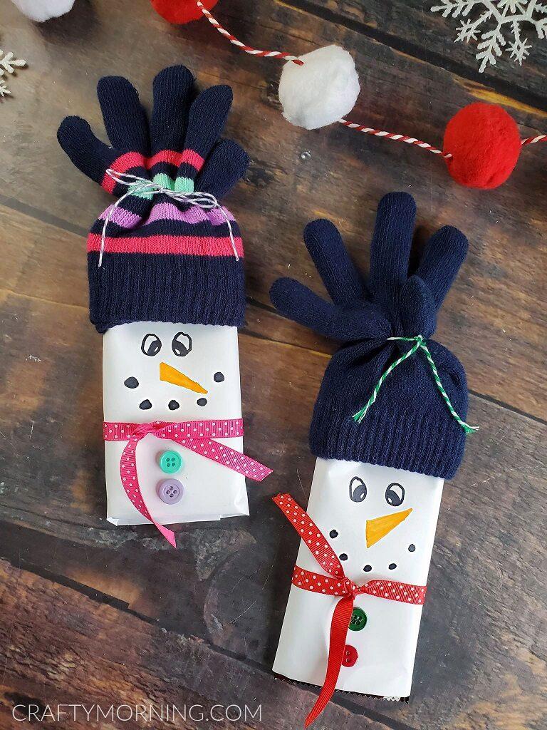 Children Winter Christmas Cute Reindeer Snowman Full Finger Gloves