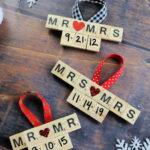 DIY Scrabble Tile Wedding Ornaments