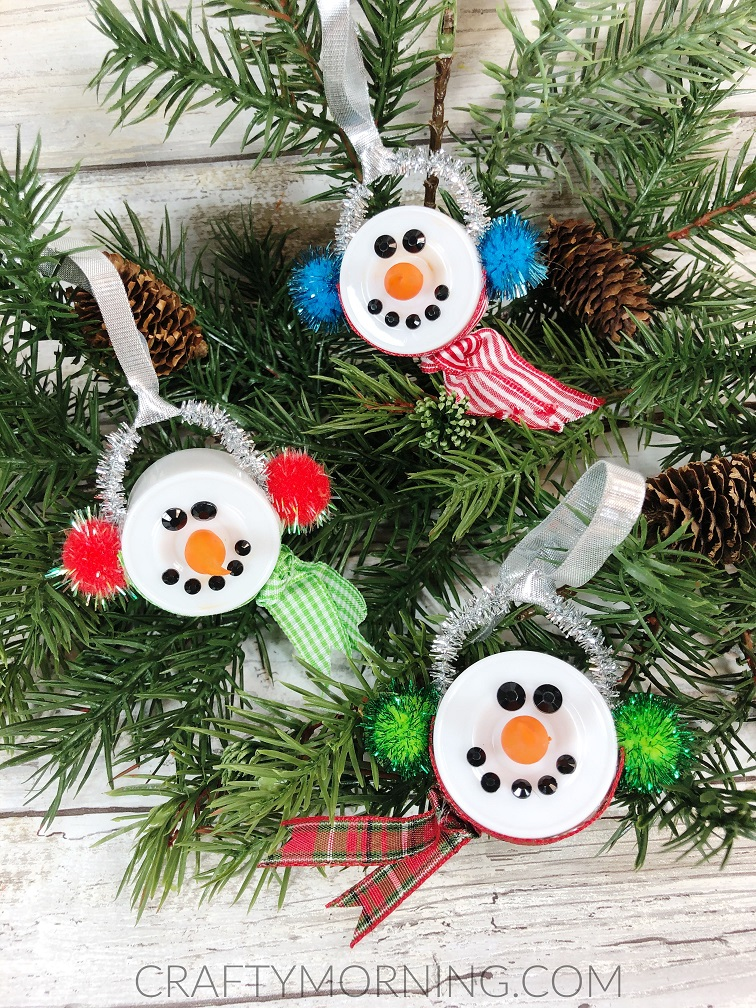 Tea Light Snowmen Ornaments Crafty Morning