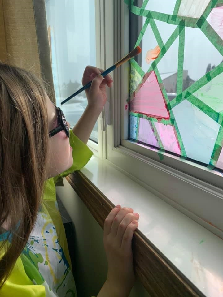 Paint your own stained glass windows - Crafty Morning