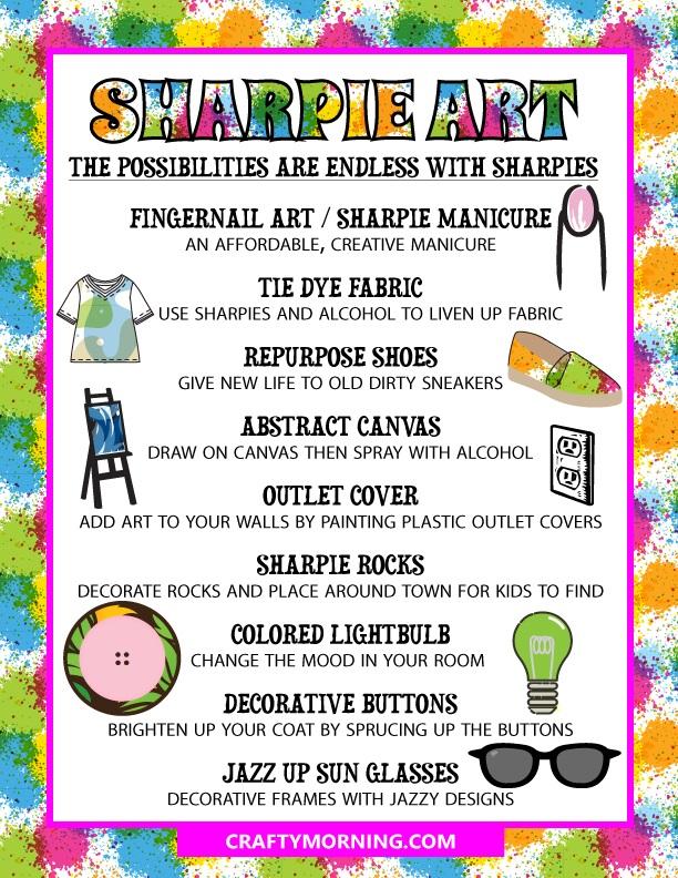 Fun Ways to Make Art with Sharpies