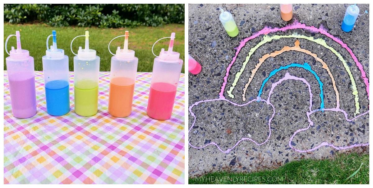 How to Make Outdoor Sidewalk Chalk Paint