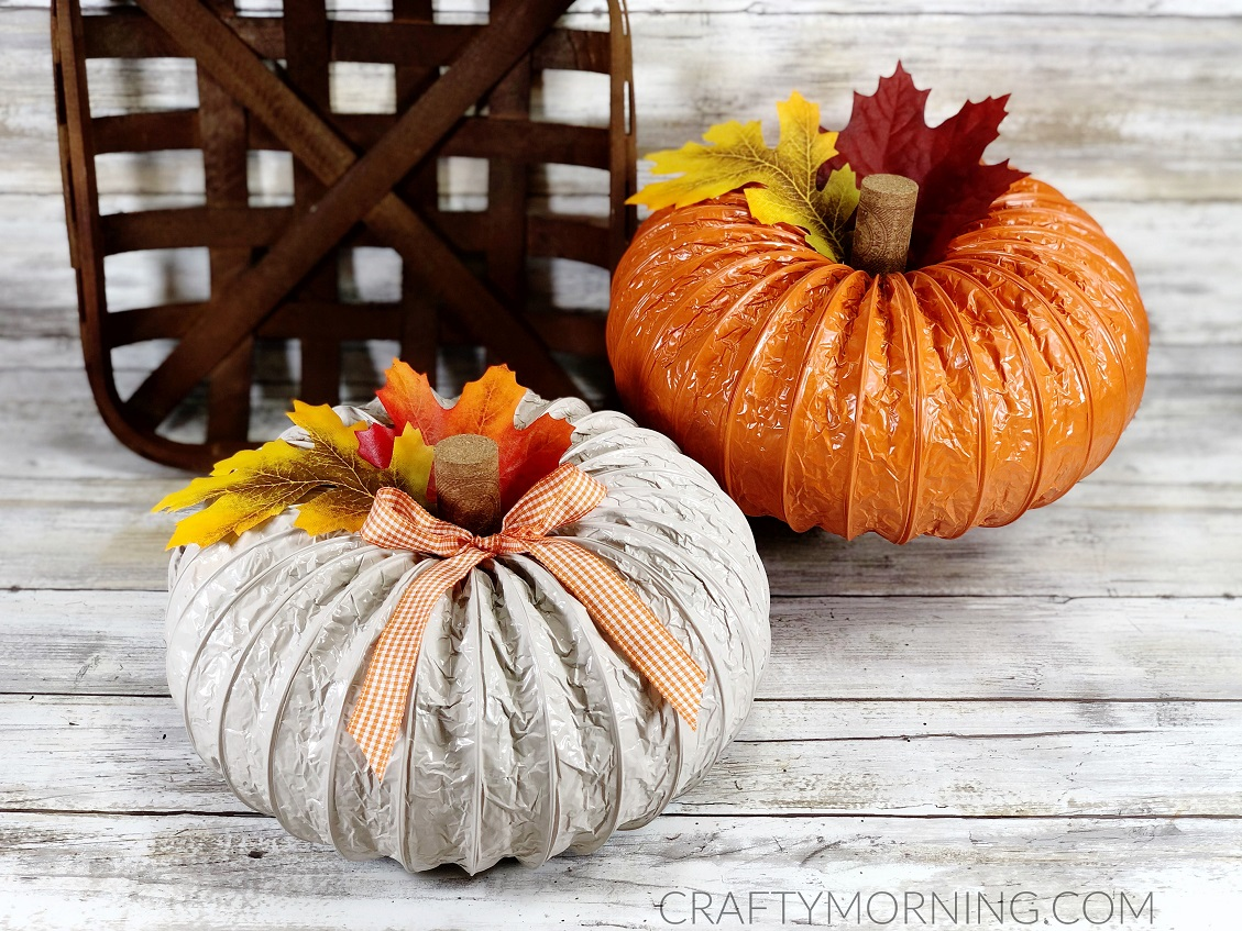 How to Make Dryer Vent Pumpkins