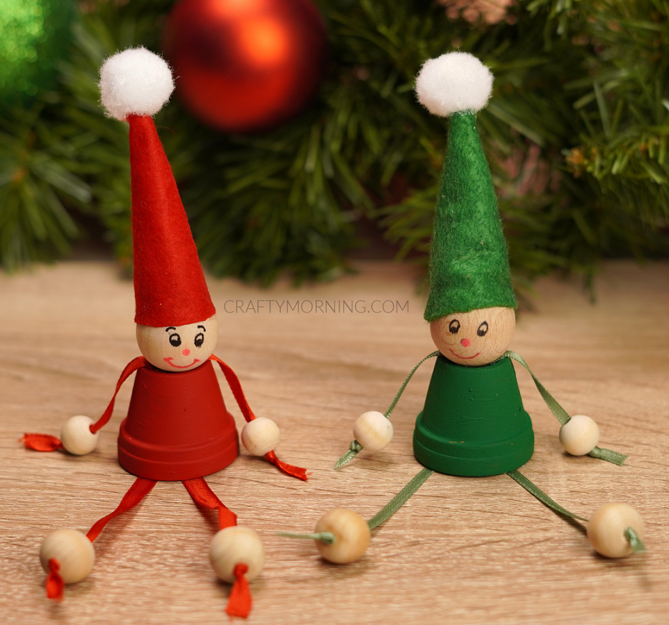 Sitting Mini Flower Pot Elves