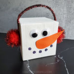 Wood Block Snowman Craft