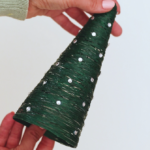 How to Make 3D Christmas Cones using Crochet Thread
