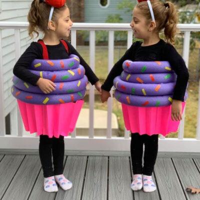 Pool Noodle Cupcake Halloween Costume