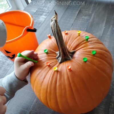Pumpkin Fine Motor Golf Tee Activity