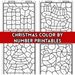 Christmas Color by Number Printables