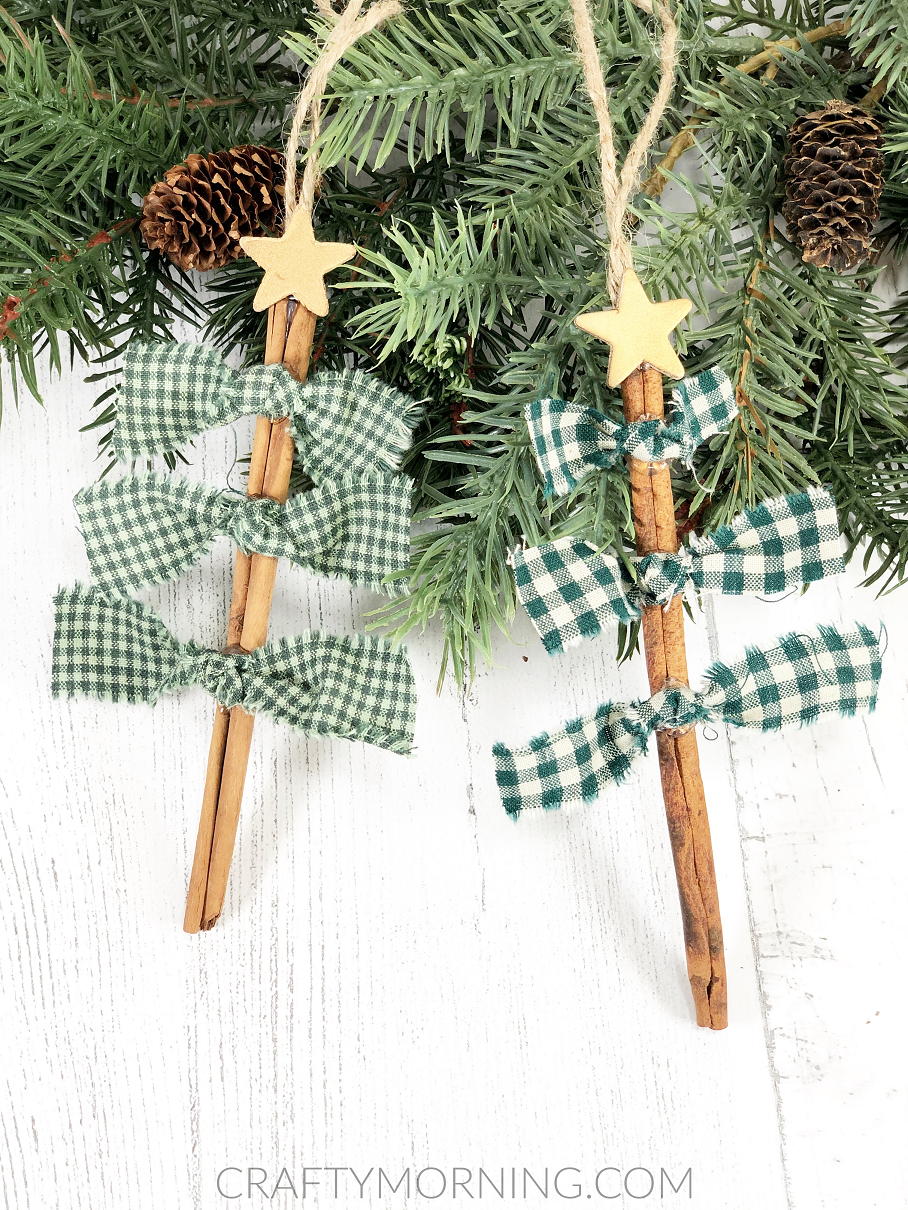 Knotted Cinnamon Stick Tree Ornaments Crafty Morning
