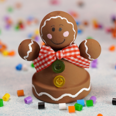 Mini Clay Pot Gingerbread Man