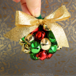 3D Jingle Bell Ball Ornament Using Pipe Cleaners