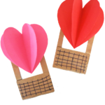 Paper Bag Heart Air Balloon Craft