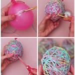 How to Make Balloon Yarn Easter Eggs