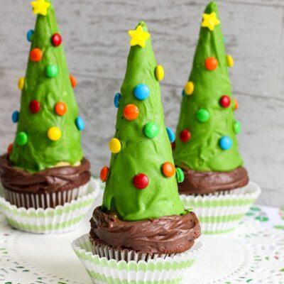 Christmas Tree Cone Cupcakes